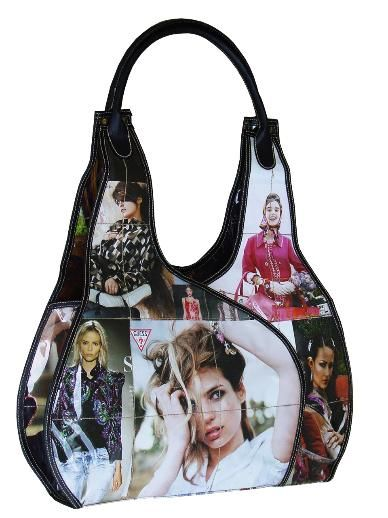 Handbags made from Recycled Magazines