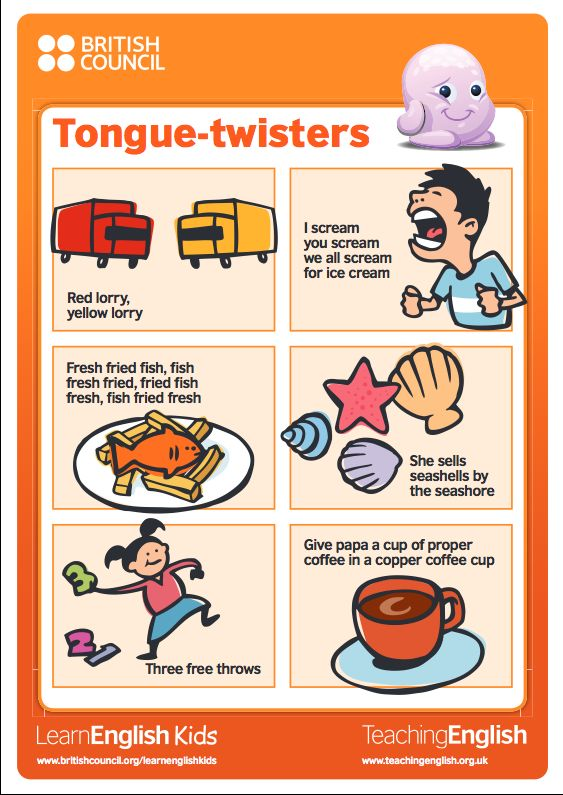 Classroom posters for Tongue twisters | TeachingEnglish | British Council |