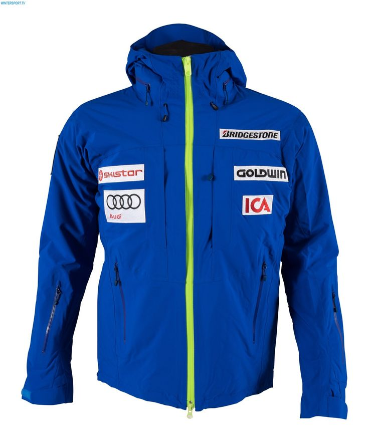 Goldwin Men Sweden Alpine Team Jacket - Adria Blue Citron