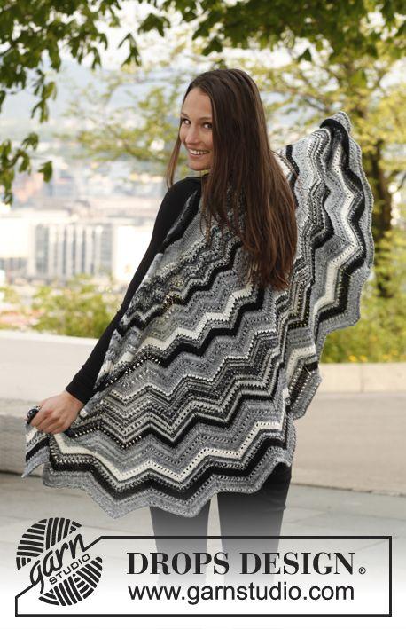 Breipatroon Omslagdoek met zigzag patroon