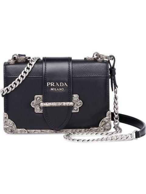 80f33d35e6f9 Prada Cahier Leather Shoulder Bag - Farfetch