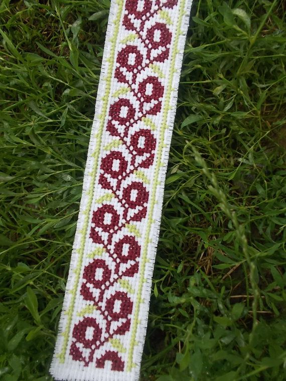 Traditional folk bookmark cross stitch by CamisTheCrossStitch