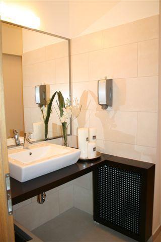 Office bathroom interior design, Iroda fürdőszoba látványterv