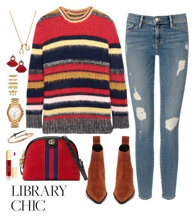"""Library chic: Gucci and grades"" by weightlessdreams on Polyvore featuring Fendi, Chrysalis, AlexaChung, Frame, Gucci, Michael Kors, Luv Aj and Bee Goddess"
