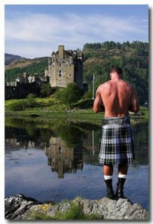 Just a shirtless man in a kilt. No biggie.