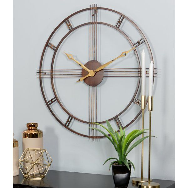 You Ll Love The 31 5 Rumi Mid Century Wall Clock At Wayfair Great Deals On All Décor Pillows Pro Mid Century Wall Clock Wall Clock Contemporary Home Decor