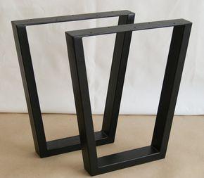Patas de banco Acero trapezoide patas de mesa Banco base