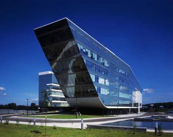 modern office building. Modern Office Building In Moscow