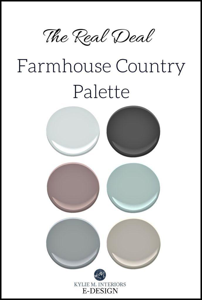 Glam Style Farmhouse Country Paint Colour Palette Kylie M E Design Online Color Consultant