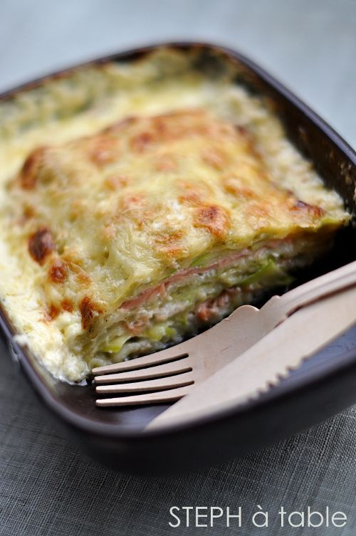 stephatable: Gratin de ravioles au saumon fumé : si simple et divinement bon