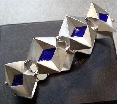 Bracelet JK, cubist inspired