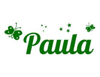 vinilos Nombres - Paula
