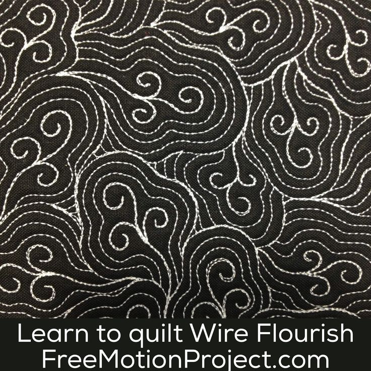 The Free Motion Quilting Project: Machine Quilt Wire Flourish #459