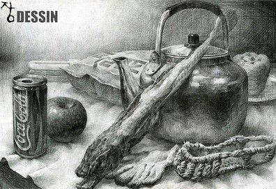 정물소묘/dessin/장미술학원