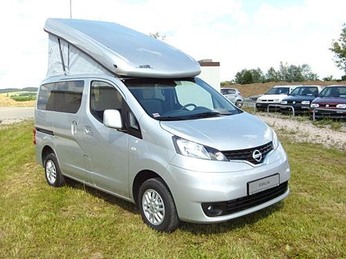 zooom reisefahrzeuge nissan nv200 car based campers. Black Bedroom Furniture Sets. Home Design Ideas