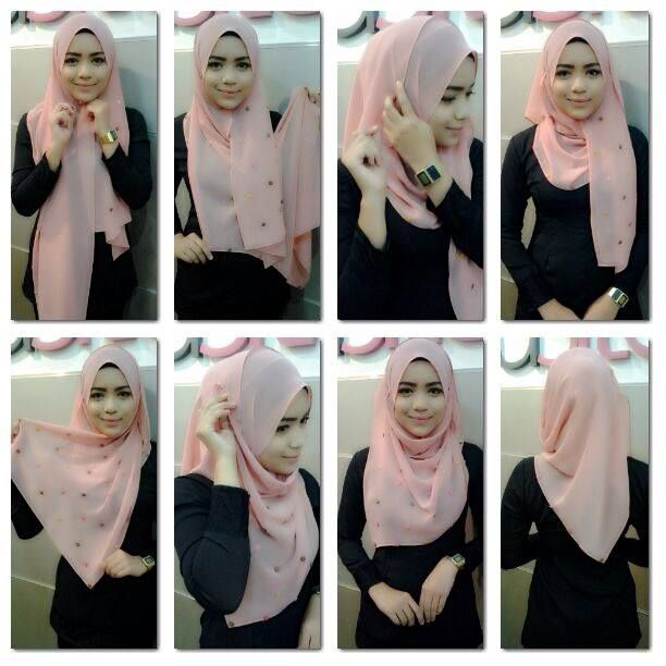 Tutorial Shawl Jilbab Pinterest Hijabs Hijab Tutorial And Shawl