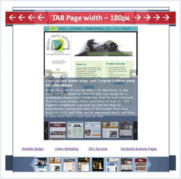 Dimensions for Facebook Timeline For Pages, Facebook Timeline Tab Page