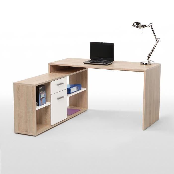 Finlandek bureau d 39 angle ty contemporain d cor ch ne for Bureau 140 cm
