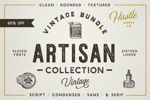 @newkoko2020 The Artisan Collection (Font Bundle) by Hustle Supply Co. on @creativemarket #bundle #set #discout #quality #buyvintage #bulk #buy #design #trend #vintage #vintagegraphic #graphic #illustration #template #art #retro #icon