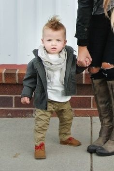 This little dude makes pulling off a fauxhawk look easy and a scarf look difficult. #victory | 25 Kids Too Trendy For Their Own Good