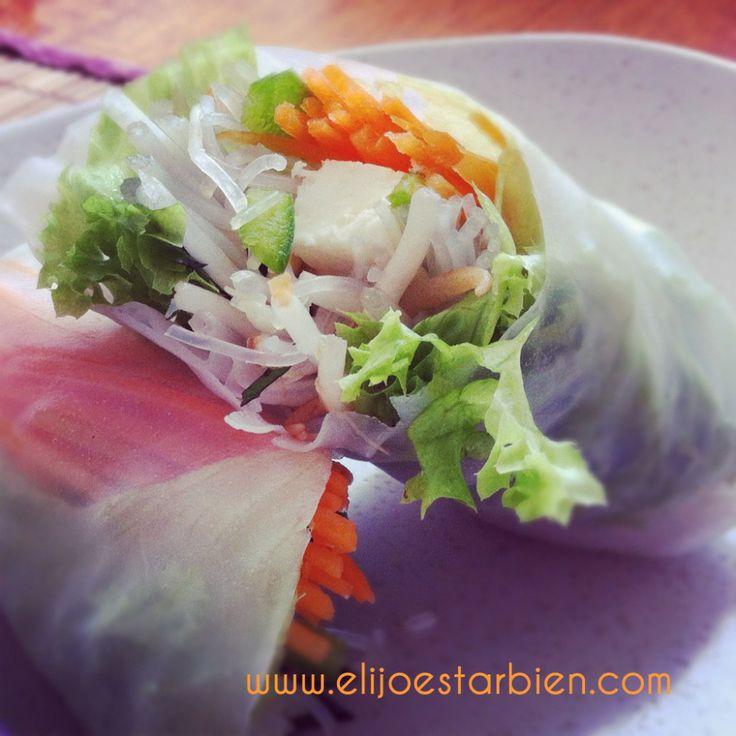 Receta: Rollos vietnamitas con salsa de limón y cilantro | Blog Elijo Estar Bien