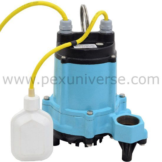 HT-6E-CIA-FS Automatic High Temperature Sump/Effluent Pump w/ Wide Angle Float Switch and 15' cord, 1/3 HP, 115V
