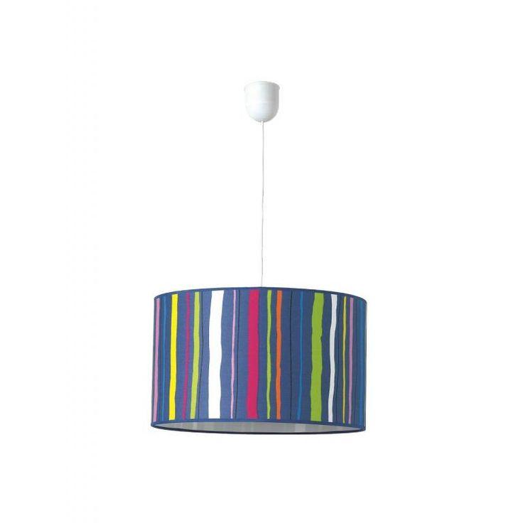 Lámpara techo Infantil POWER azul oscuro 40x24 cm #lamparainfantil #lamparainfantiltecho #decoracioninfantil