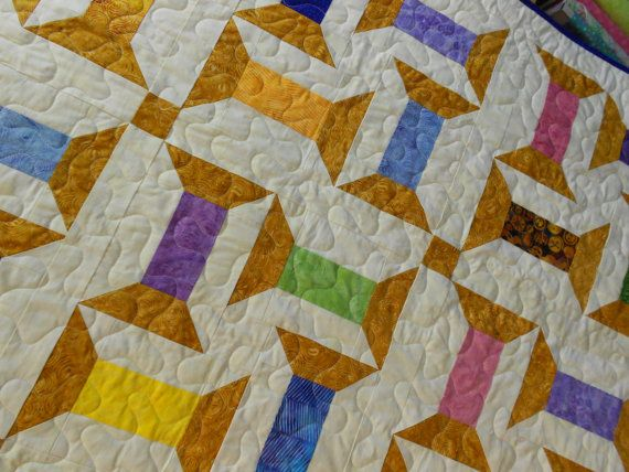 Quilt Pattern  Spooling Around Batik  Jelly by LittleLouiseQuilts