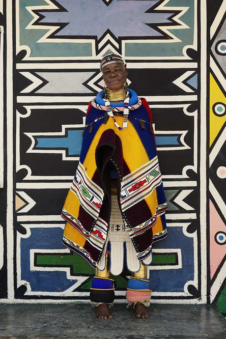 Artist Esther Mahlangu photographed by Travys Owen for #Eytys.