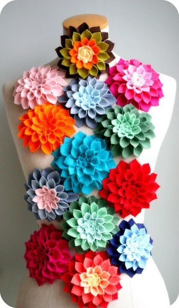 Best felt flower tutorial online-at notmartha.  These are perfect...I was wanting to put some of these on a pillow for my daughter's room.