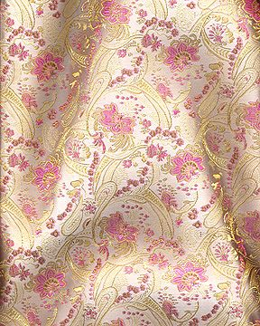 "45"" Chinese Brocade- Small Paisley- Ivory"