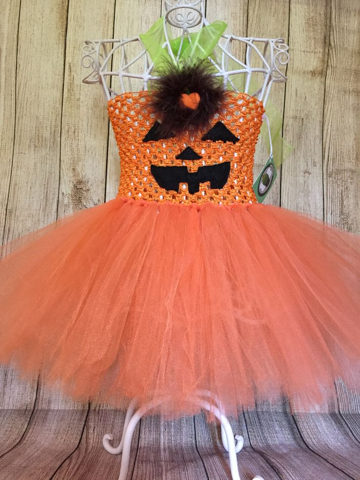 Pumpkin Tutu Dress - size 0-12 months