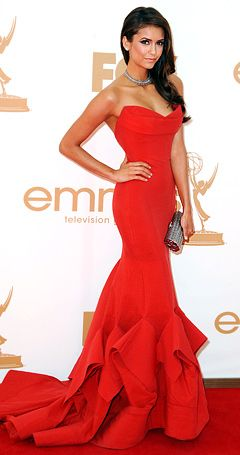 I have to say, this is my pick for best-dressed at the Emmys. I've never watched Vampire Diaries (though I think I'd love it), but... wow. Killer! Donna Karan