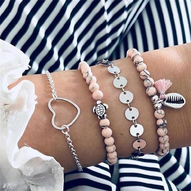 Boho Crystal Bead Wedding Jewelry