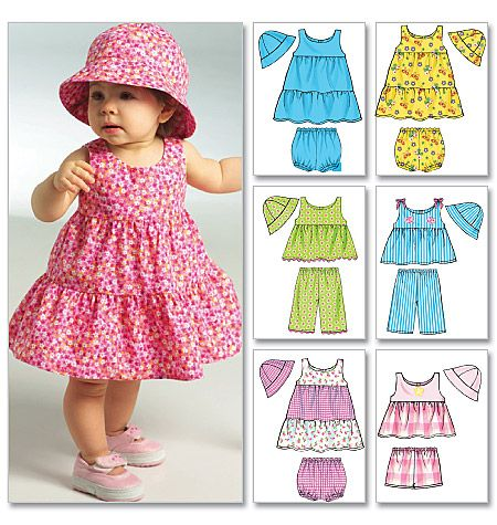 Easter for T B5017 | Infants' Top, Dress, Panties, Shorts, Pants and Hat | Infants/Toddlers | Butterick Patterns