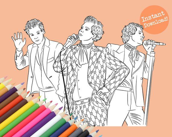 Harry Styles Suits Coloring Book Digital Download Coloring Books Harry Styles Photos Harry Styles