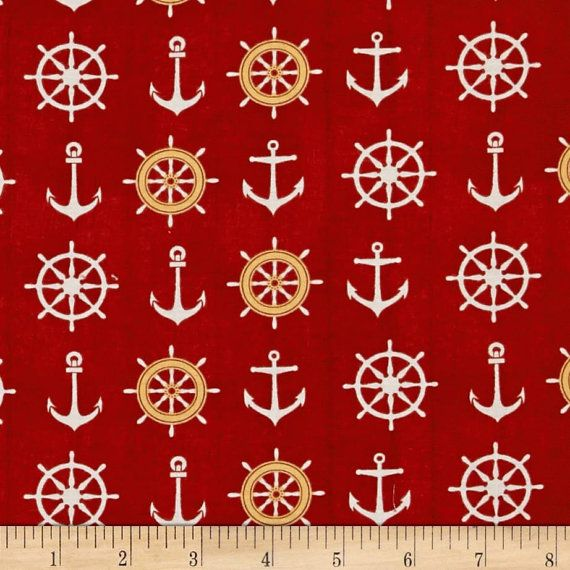 fat quarter Windham Catch of the Day anchor  by CanadianDestash, $3.57
