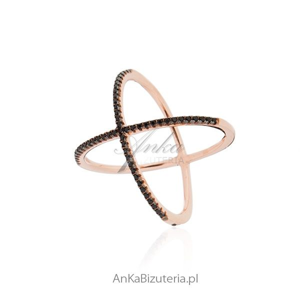 pierścionek srebrny pozłacany od AnKa Biżuteria