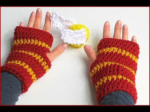 How to Crochet Fingerless Gloves Harry Potter style, My Crafts and DIY Projects