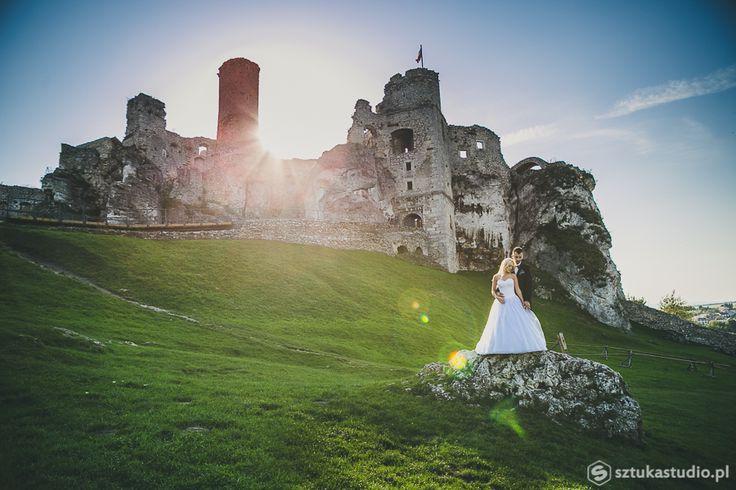 Sesja ślubna na zamku w Ogrodzieńcu.