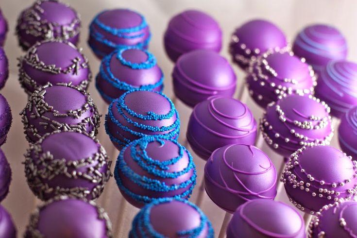 Purple Cake Pops Recipe | Purple Velvet Cake Balls Recipe