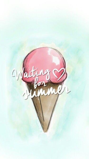 Waiting for summer ♡ (ice cream) dibujo hecho por anni (paper pop)