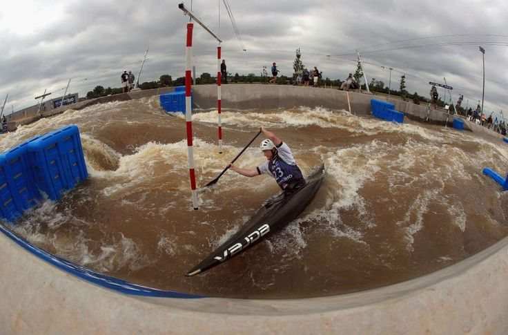 Oklahoma City  Zachary Lokken competes in the Men's Canoe C1 at the 2016 USA Canoe/Kayak Slalom Olympic Team Trials at the OKC Boathouse District
