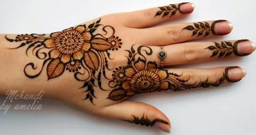 30+ Easy Henna Mehndi Designs that you can Draw yourself - Listaka