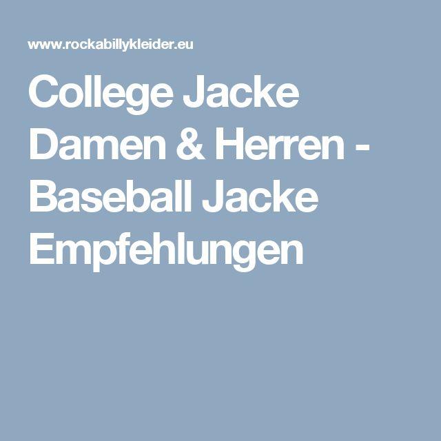 College Jacke Damen & Herren - Baseball Jacke Empfehlungen