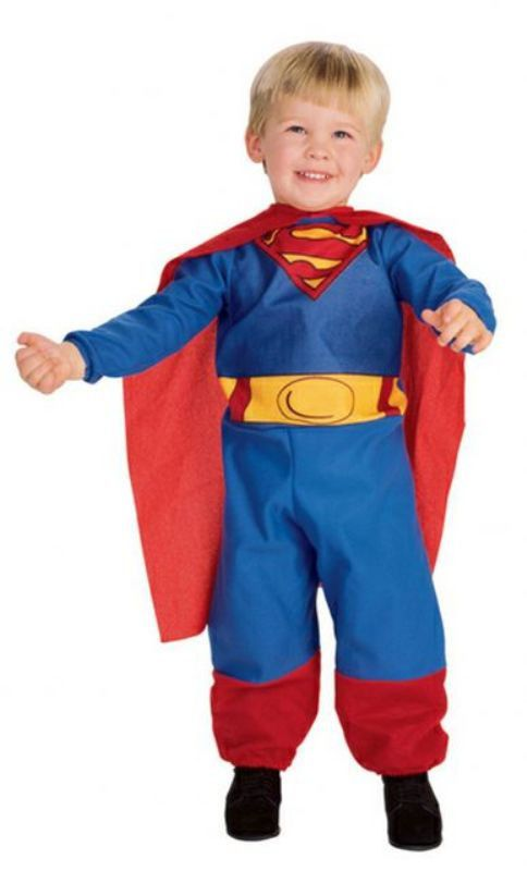 NWT Boys Toddler Superman Costume with bodysuit and cape, Size 2-4 #Rubies #Superman