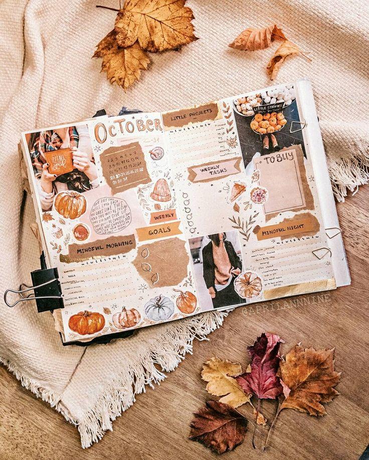 Oktober Herbst Bullet Journal #journal #notebook #bujo #fall #autumn