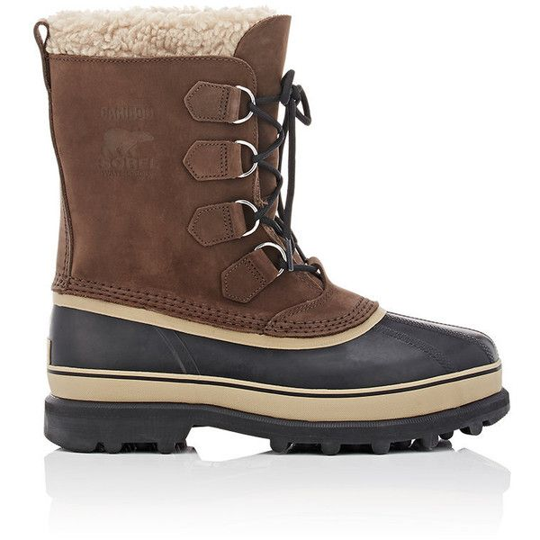 Sorel Men's Caribou™ Snow Boots ($150) ❤ liked on Polyvore featuring men's fashion, men's shoes, men's boots, dark brown, sorel mens boots, mens waterproof snow boots, mens waterproof boots, mens shoes and mens lace up shoes