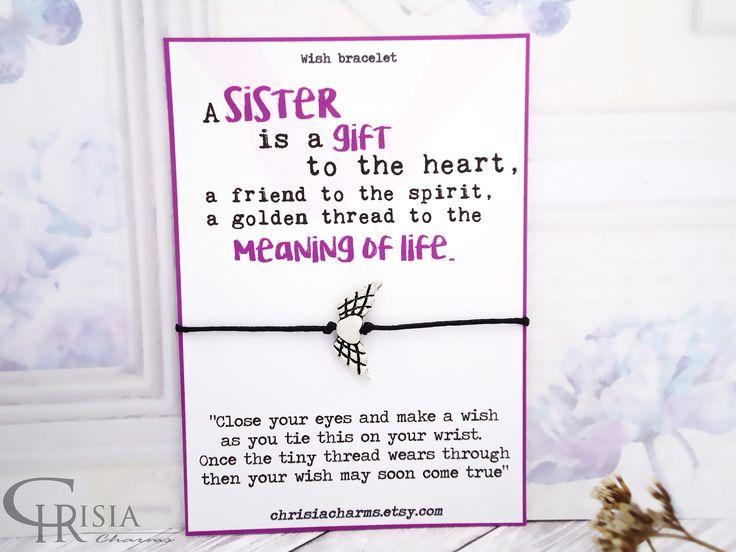 http://etsy.me/2EmoBJk : Sister Wish Bracelet, Wish Bracelet, Sister Bracelet, Charm Bracelet, Friendship Bracelet, Sisters Gift, Gift for Sister, String Bracelet  #chrisiacharms #etsy #jewelry #bracelet #wishbracelet #charms #charmbracelet #sistergift #sisterbracelet