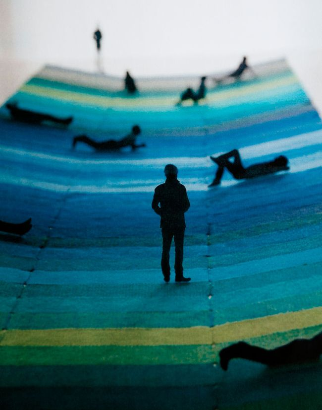 model for textile field, 2011 • ronan erwan bouroullec w/ danish textile company, kvadrat • london design festival • victoria and albert museum • via plenty of colour